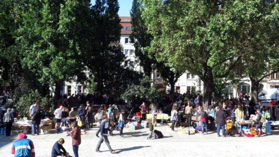 Seit vergangenem Oktober dabei der Trödelmarkt am Martin-Luther-Platz