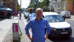 Neustadtgrüner Johannes Lichdi an der Königsbrücker Straße
