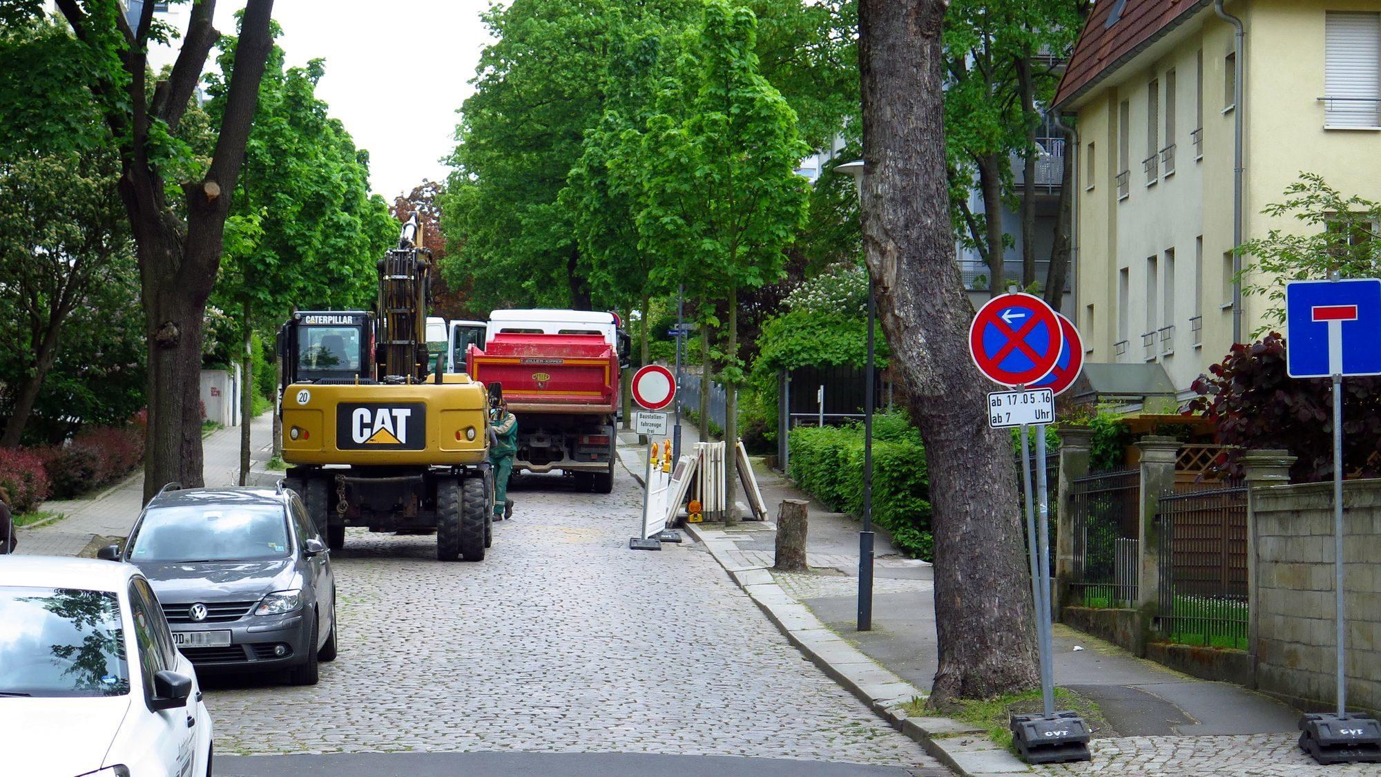 Jägerstraße und Nordstraße teilweise gesperrt: Nordstraße ist zwischen Bach- und Baumstraße komplett gesperrt.