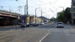 Straßenbahn-Umleitungen: Umleitungen an der Anton-/Leipziger Straße
