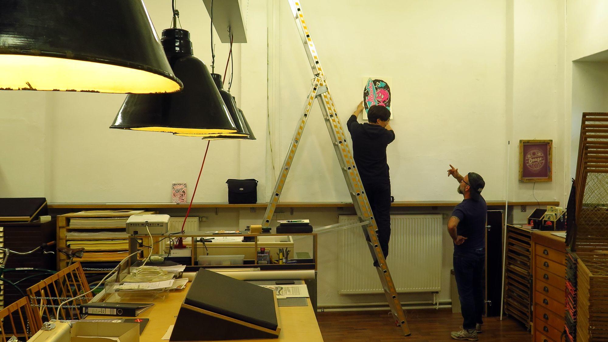 Ausstellungsvorbereitungen