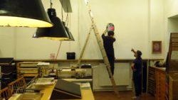 Mini Colored Gigs: Ausstellungsvorbereitungen