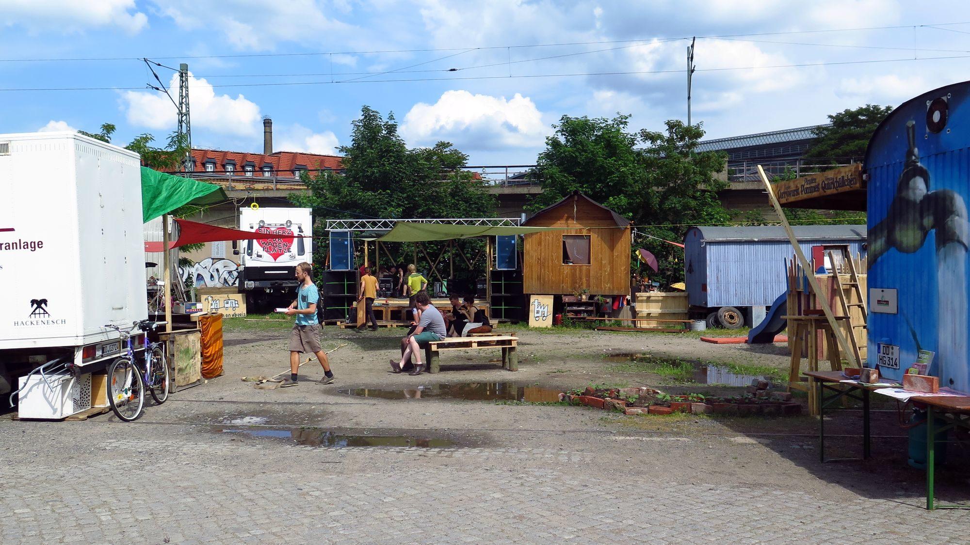 Wagenplatzfest am Alten Leipziger Bahnhof