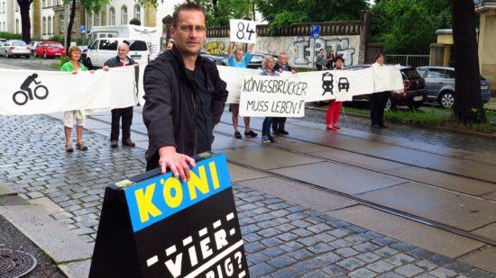 """Die Initiative """"Königsbrücker muss leben"""" hatte am vergangenen Mittwoch die verschiedenen Varianten anschaulich präsentiert."""