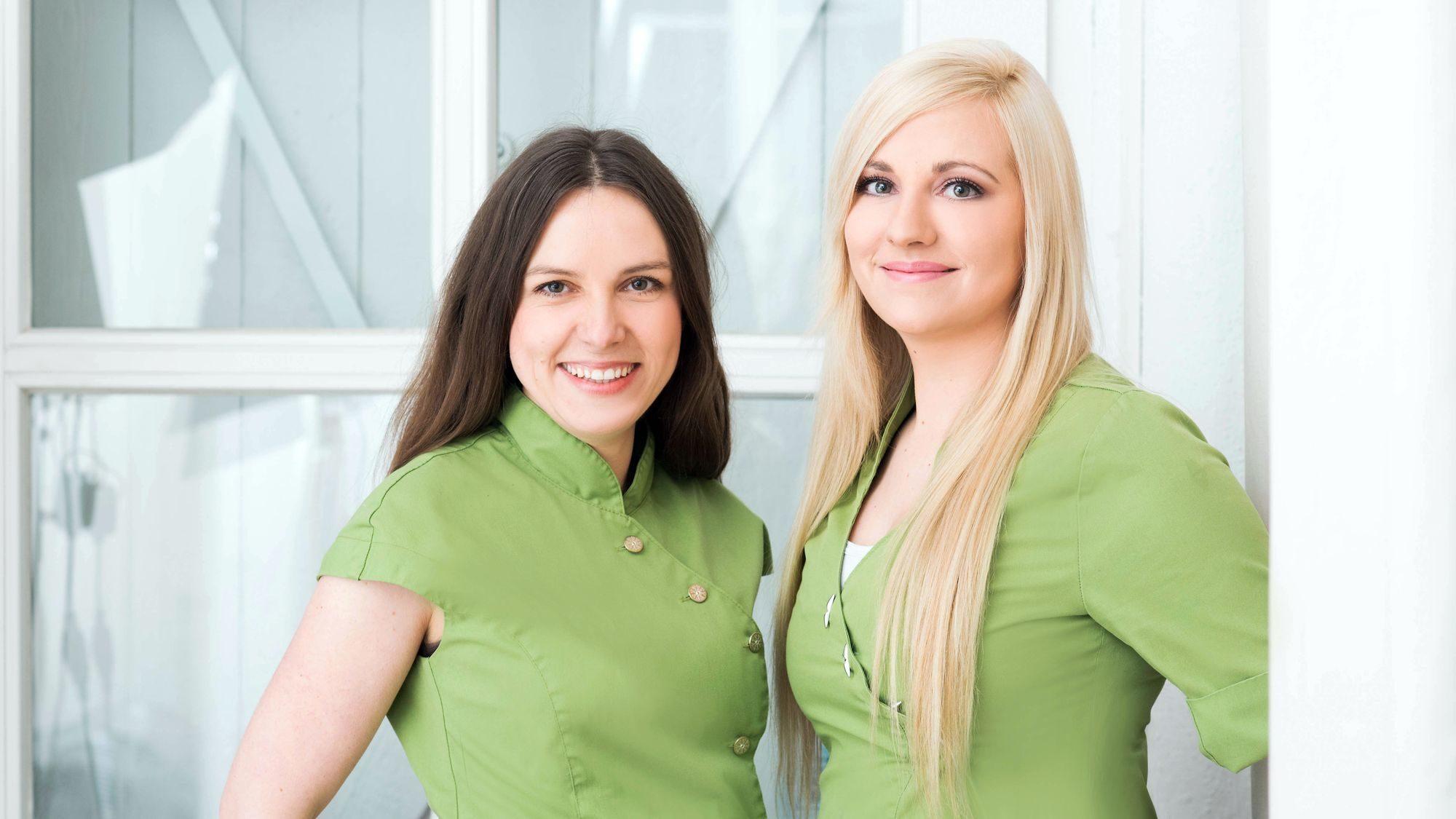 Sind wie Samt & Seide: Yvonne Despang und Carolin Schulz