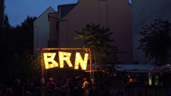 Leuchtreklame für die BRN