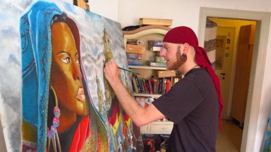 Thomas Schreiter bei der Arbeit