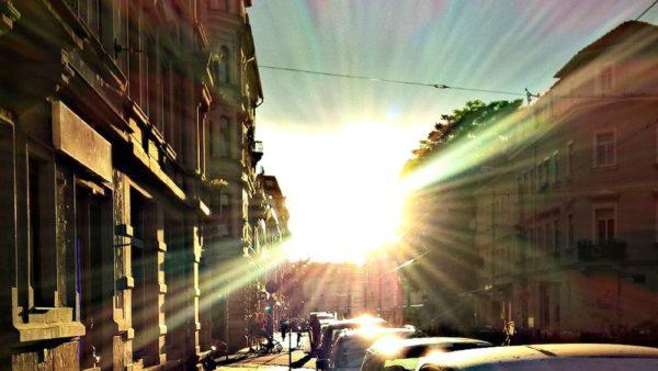 Wenn am Bischofsweg die Sonne untergeht.