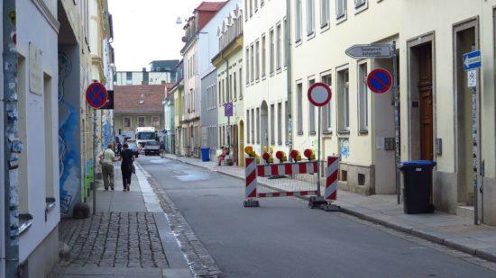 Böhmische Straße gesperrt.
