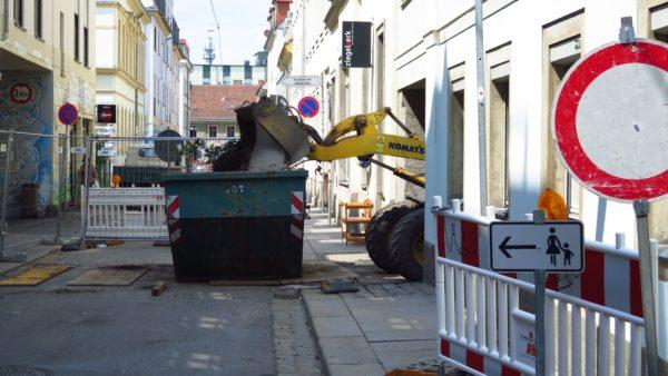Baustelle Böhmische Straße