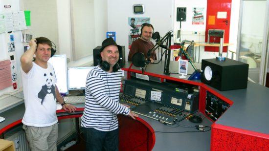 Coloradiomoderatoren im Studio auf der Jordanstraße