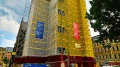 Neue Banner für den Turm