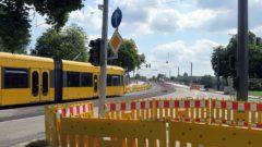 Albertbrücke macht für zwei Wochen bahnfrei.