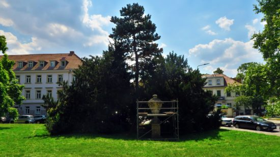 Barocke Vase im Park an der Bautzner Straße