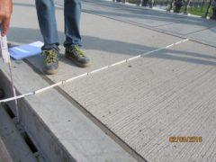 Kontrollmessung und Regelquerschnitt Albertbrücke (Quelle: Straßen- und Tiefbauamt)