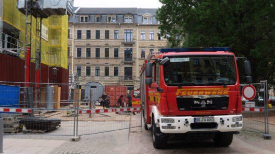 Feuerwehr an der Lutherkirche