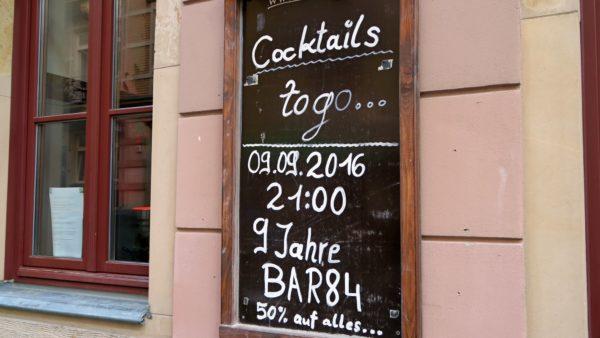 Geburtstags- und Abschiedsparty in der Bar84