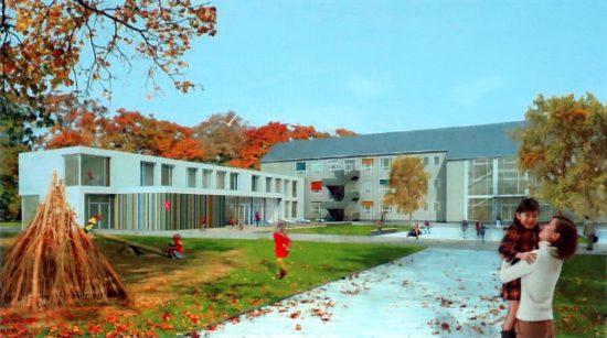 Hecht-Schule: So soll die 30. Grundschule mal aussehen. Visualisierung: Schulverwaltungsamt