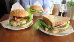 Burger und Sandwich