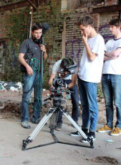 Das Team der Produktionsfirma ravir film bei den Dreharbeiten zum Sukuma Award 2015