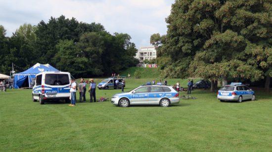 Polizeieinsatz auf dem Alaunplatz