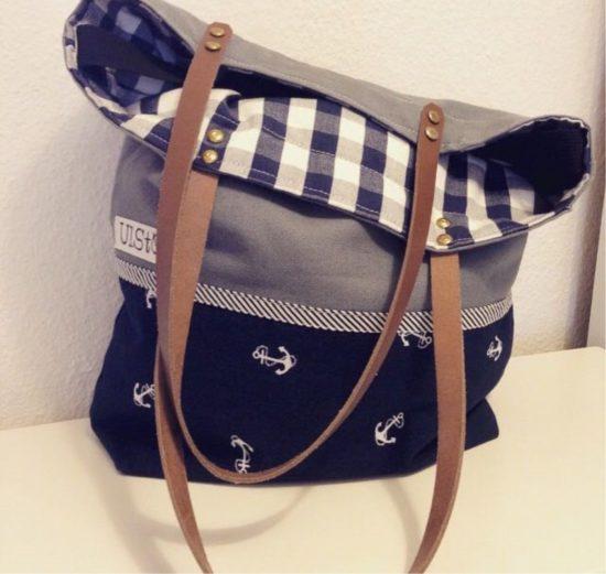 Ulrikes erste Tasche: Damals noch mit Henkeln aus Leder.