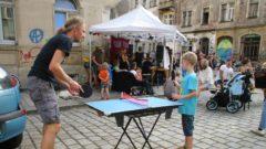 Spannende Tischtennis-Partie beim Rudolf Rocks