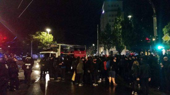 Demo endete am Albertplatz.