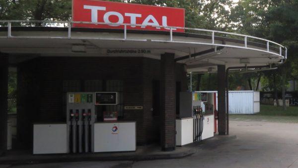 Die überfallene Tankstelle an der Bautzner Straße.
