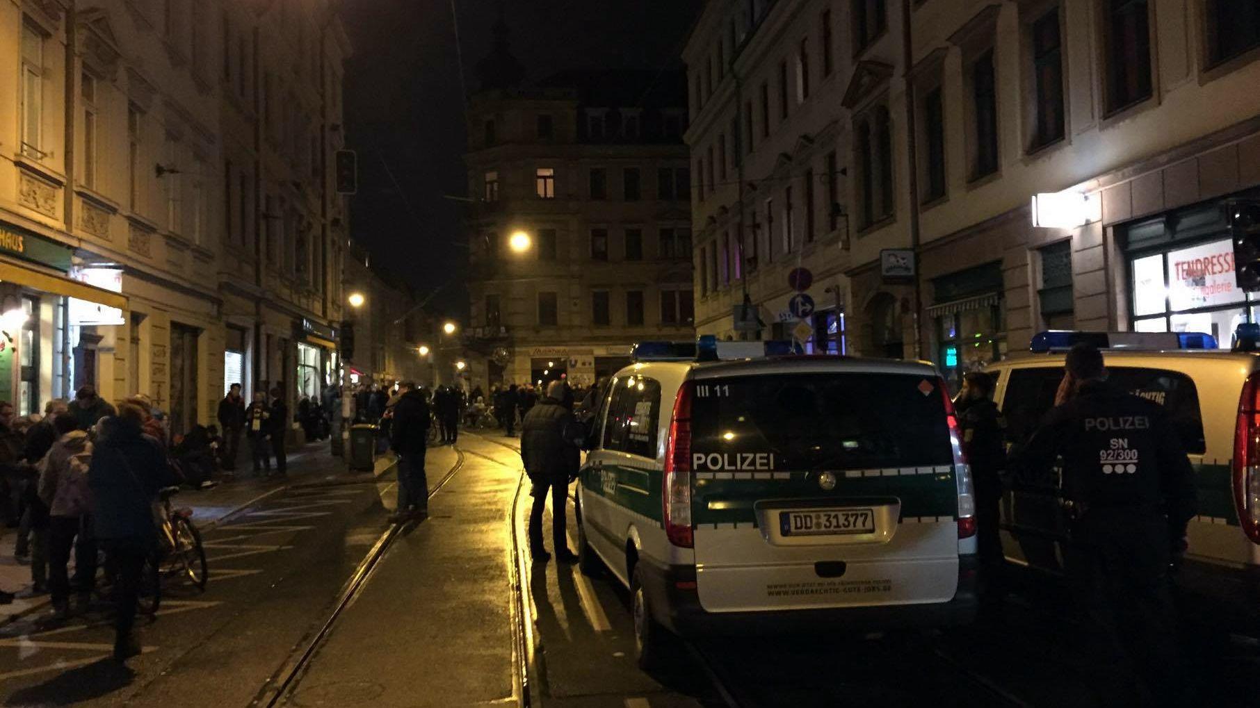 Ab 22 Uhr war die Polizei vor Ort