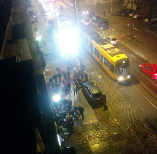 Filmdreh auf der Königsbrücker Straße