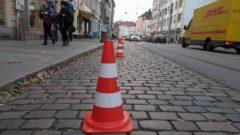 Abgesperrt für Filmdreh - Bischofsweg