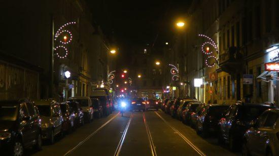 Weihnachtsbeleuchtung auf der Rothenburger Straße