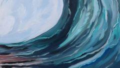 Ausschnitt Wellenkopf - Ölmalerei Brigitte Baetke