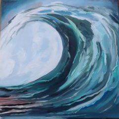 Wellenkopf - Ölmalerei Brigitte Baetke