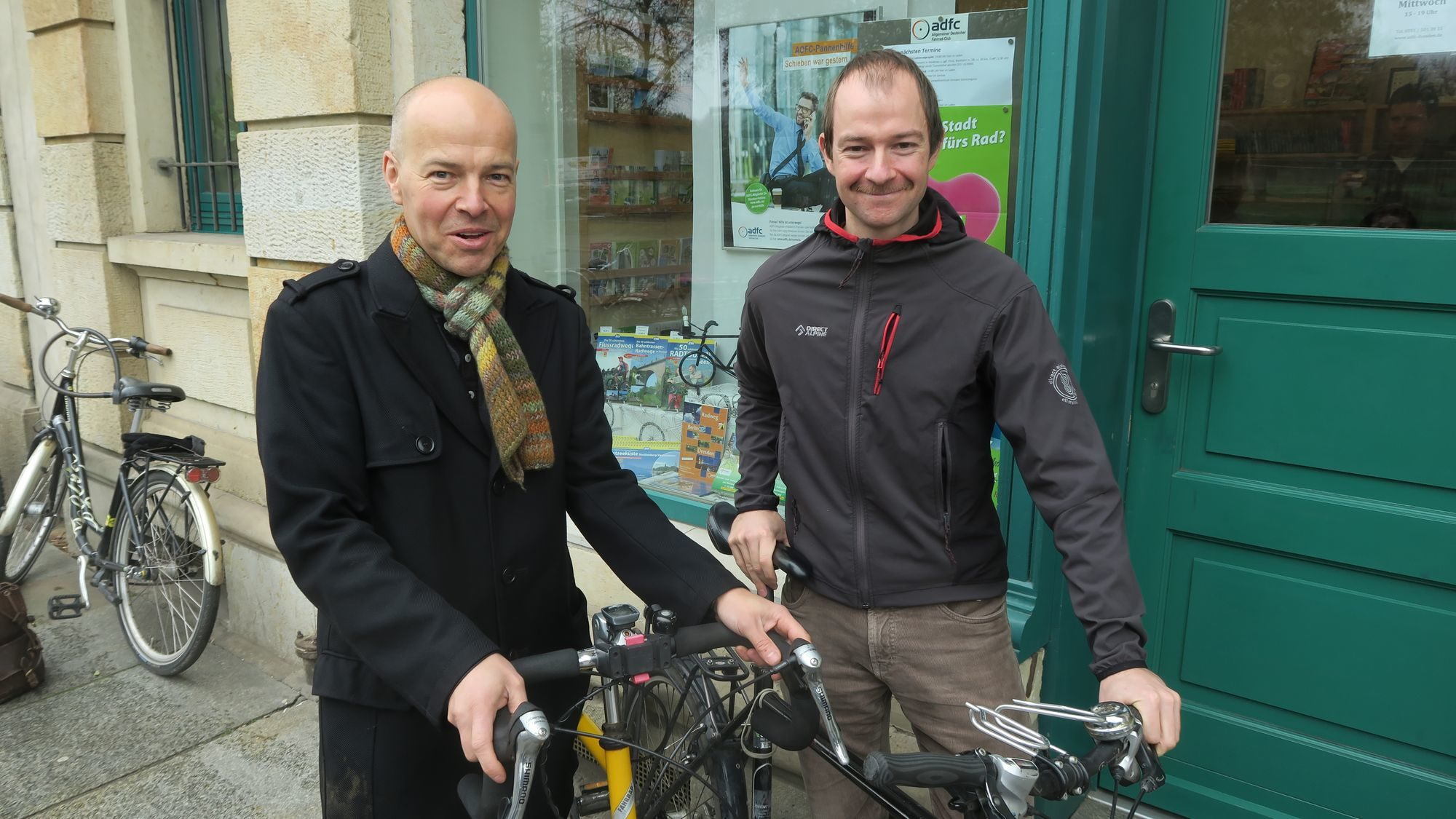 Begrüßen grundsätzlich das Radverkehrskonzept: ADFC-Vorstände Rolf Leonhardt und Nils Larsen