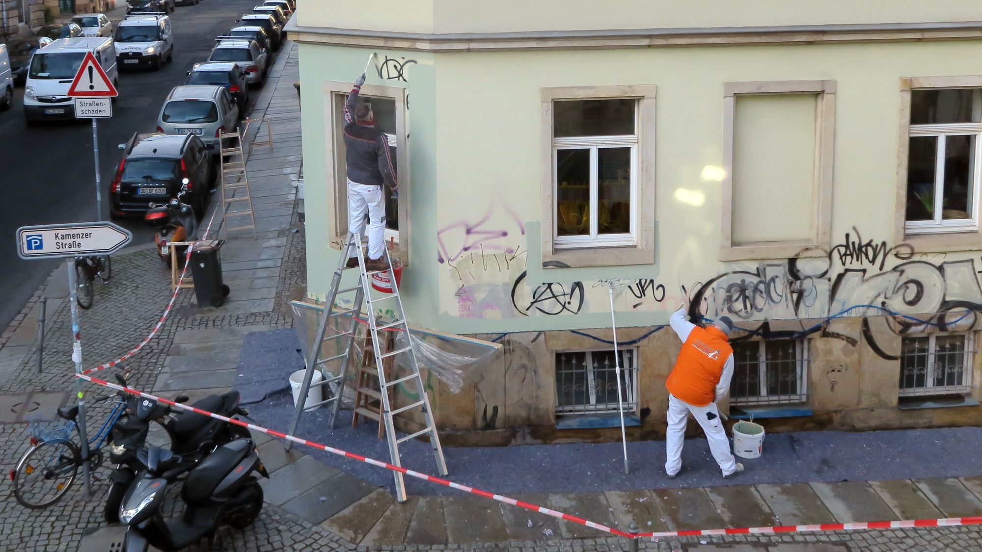 Frisch gestrichen - Prießnitz-/Ecke Louisenstraße
