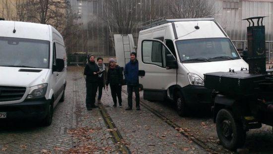 Start des Support-Convoy am 8. Dezember in Dresden.