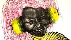 Ausschnitt aus Headphones von Tina Wohlfarth.