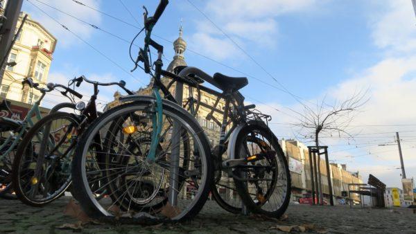 Schrottrad an der Bautzner Straße