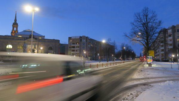 Die Albertstraße ohne Brücke.
