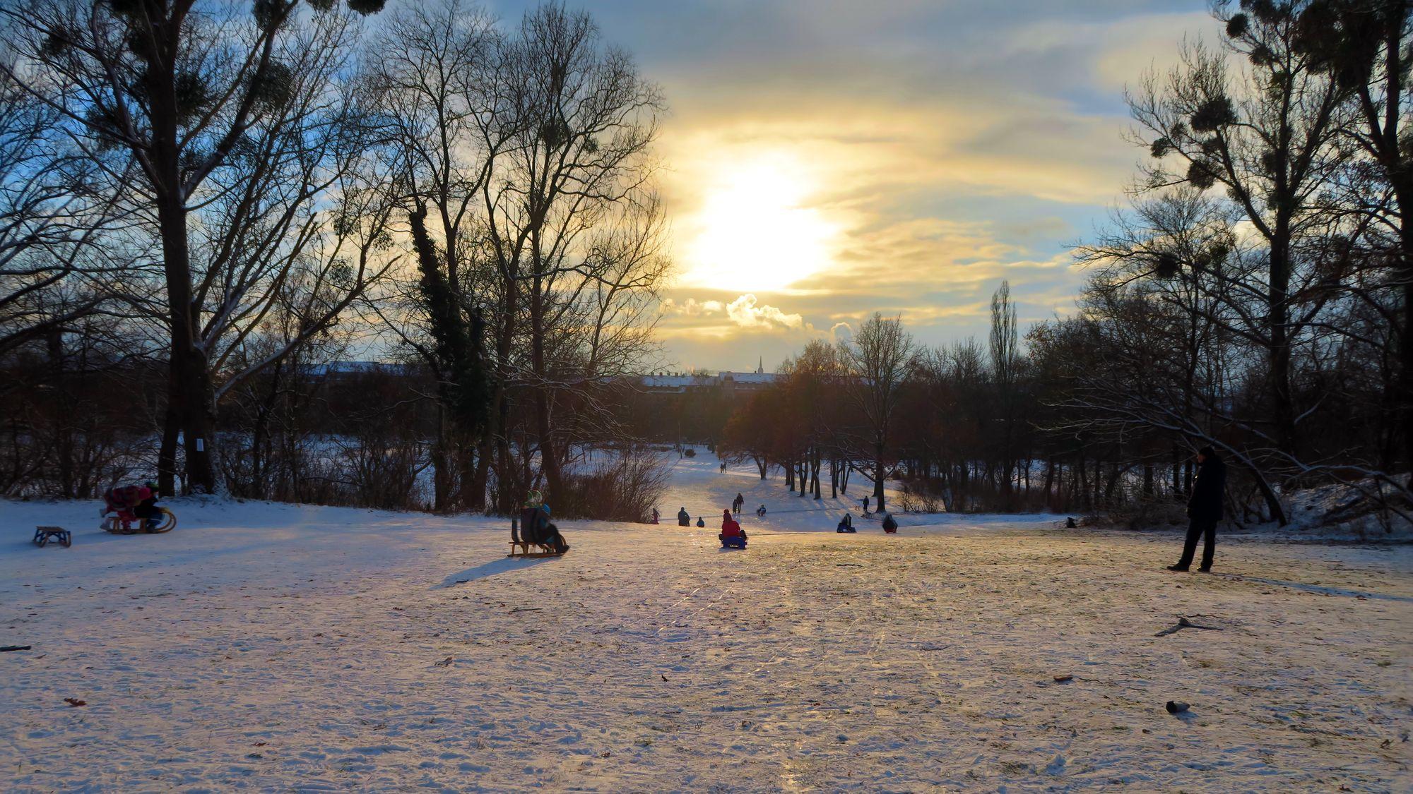 Reicht der Schnee auf dem Alaunplatz aus?