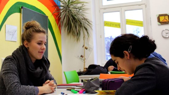 Luise Wurlitzer unterrichtet Deutsch