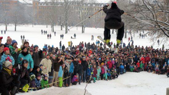Skispringen am Alaunplatz