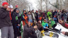 18 Starter traten zum Skispringen an.