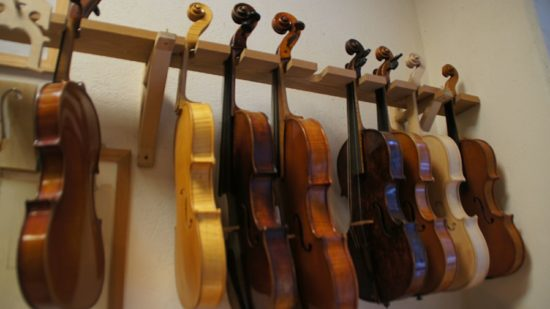 Violinen und Bratschen aus Fichte und Ahorn