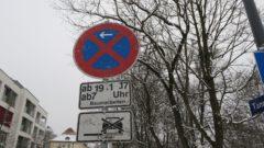 Halteverbot auf der Tannenstraße