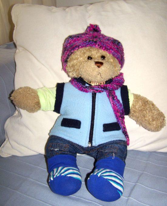 Der Teddy aus dem Rosengarten.