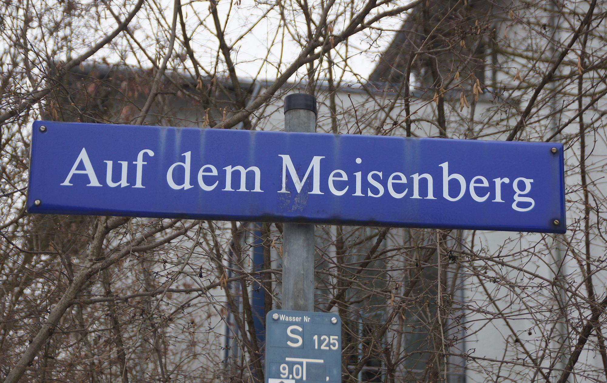 """Die Straße """"Auf dem Meisenberg"""" war von 1915 bis 1935 ohne Namen"""