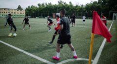 "Flüchtlingsteam beim SC Borea - Szene aus ""The New City"""